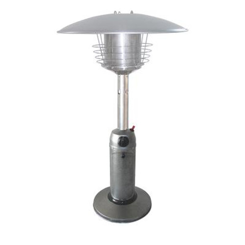 38Inch Tall Hammered Silver Portable Tabletop Patio Heater