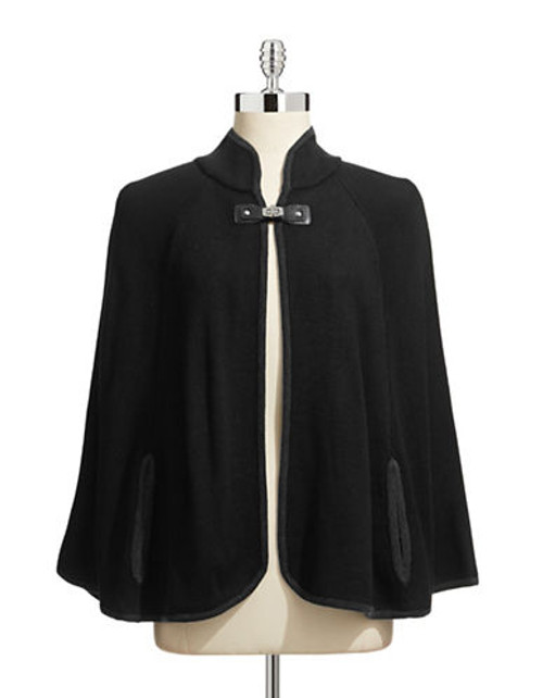 Calvin Klein Knit Cape - Black