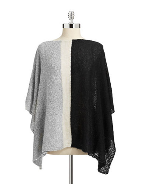 Echo Colourblock Poncho - Black