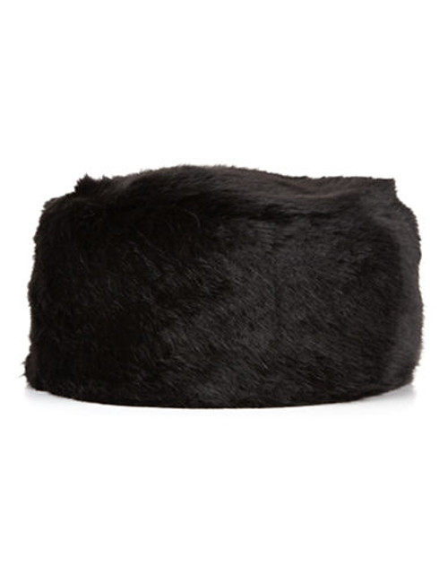 Jacques Vert Black Fur Cossack Hat - Black