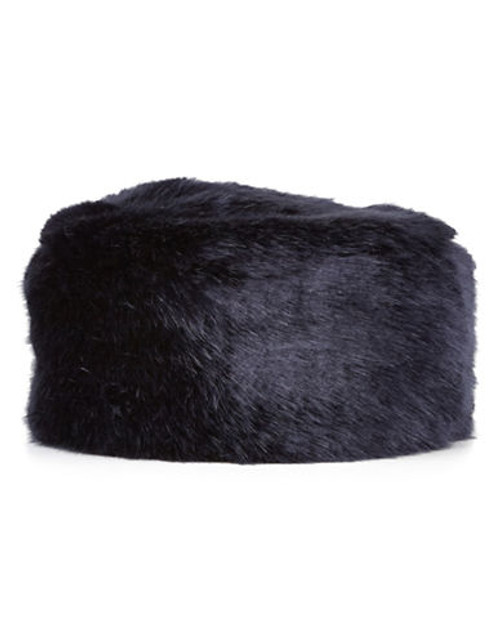 Jacques Vert Navy Fur Cossack Hat - Navy