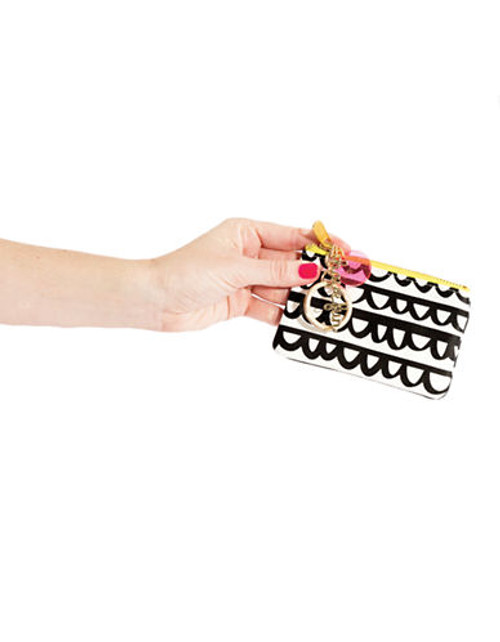 Bando Zip Zip Keychain Pouch - Black/White