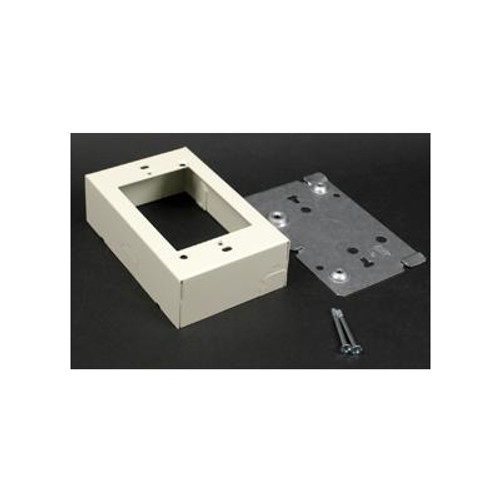 1 Gang Switch & Receptacle Box Ivory
