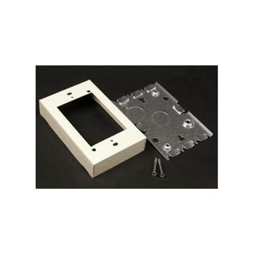 1 Gang Shallow Switch & Receptacle Box Ivory