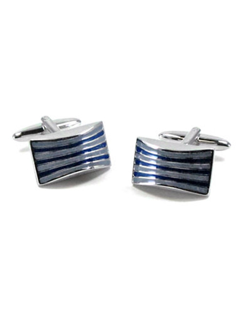 Black Brown 1826 Cufflinks - Blue