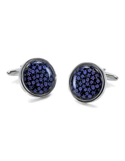 Black Brown 1826 Cufflinks - Purple