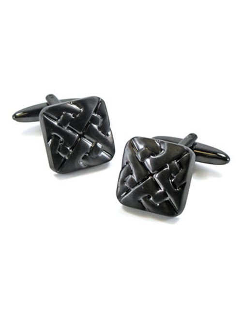 Black Brown 1826 Cufflinks - Grey