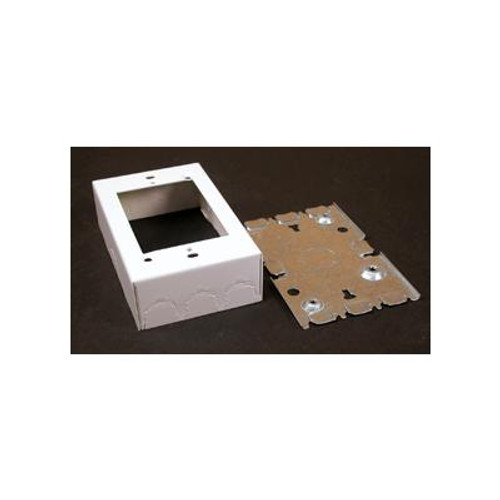 1 Gang Deep Metal Switch & Receptacle Box White
