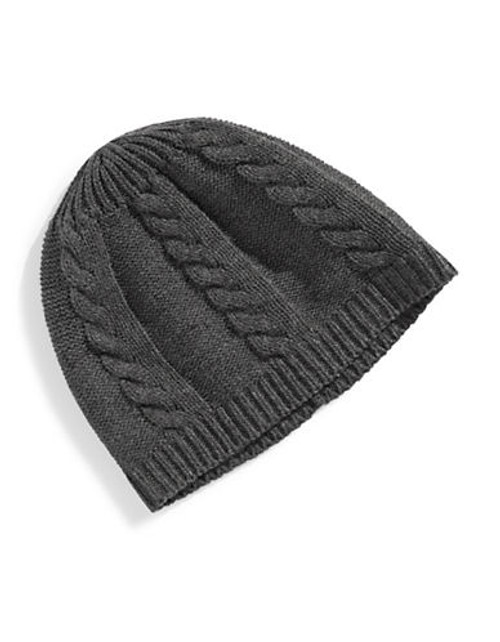 Black Brown 1826 Cable Knit Tuque - Grey