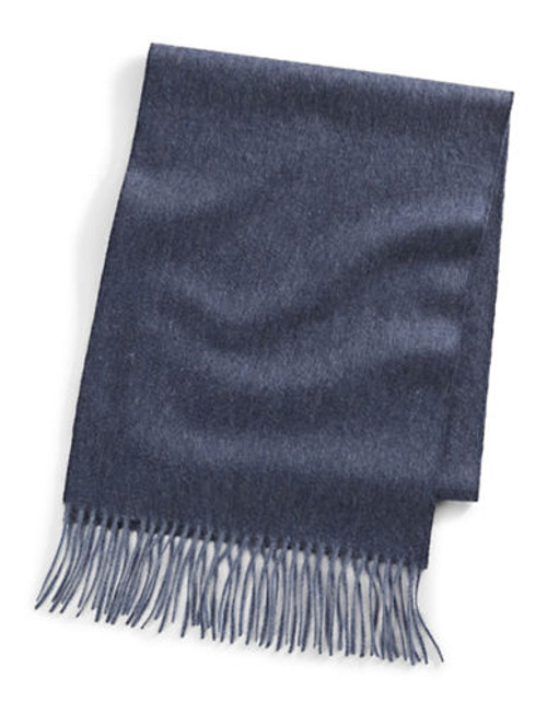 Black Brown 1826 Cashmere Scarf - Denim