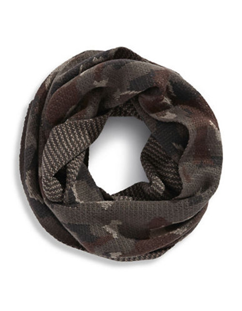 Black Brown 1826 Camouflage Loop Scarf - Taupe