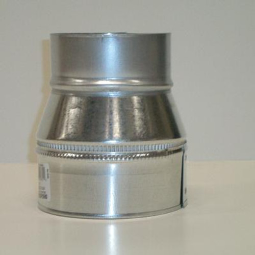 Plain Reducer 6 In. x 4 In. 26 Galvanized