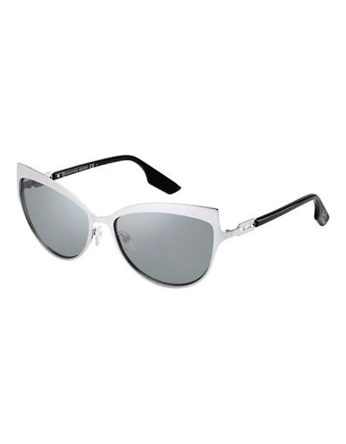 Alexander Mcqueen Cat Eye Sunglass MCQ0008/S - Silver Mirrored