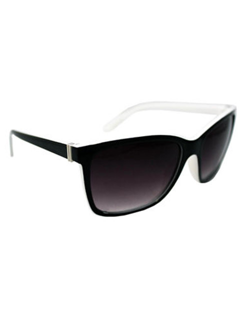Alfred Sung Ladies plastic Two toned Modified Wayfarer - Black