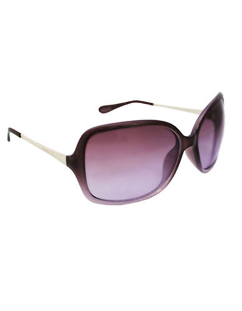 Alfred Sung Ladies Plastic Square with Metal Temples - Purple