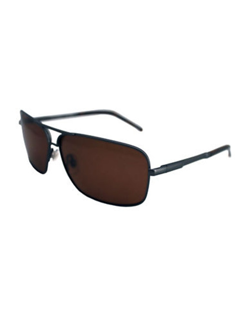 Alfred Sung Rectangular Polarized Sunglasses - Brown