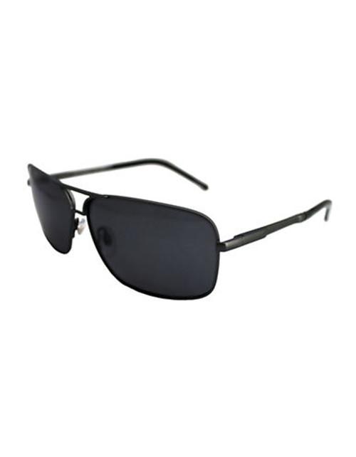 Alfred Sung Rectangular Polarized Sunglasses - Gunmetal