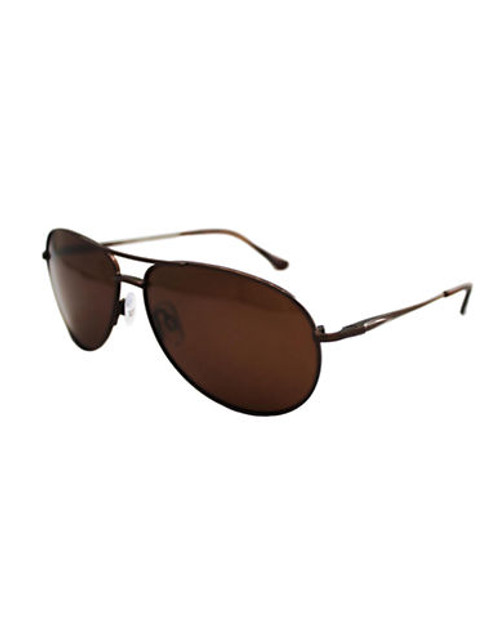 Alfred Sung Polarized Aviator Sunglasses - Brown