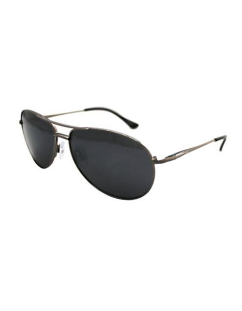 Alfred Sung Polarized Aviator Sunglasses - Gunmetal