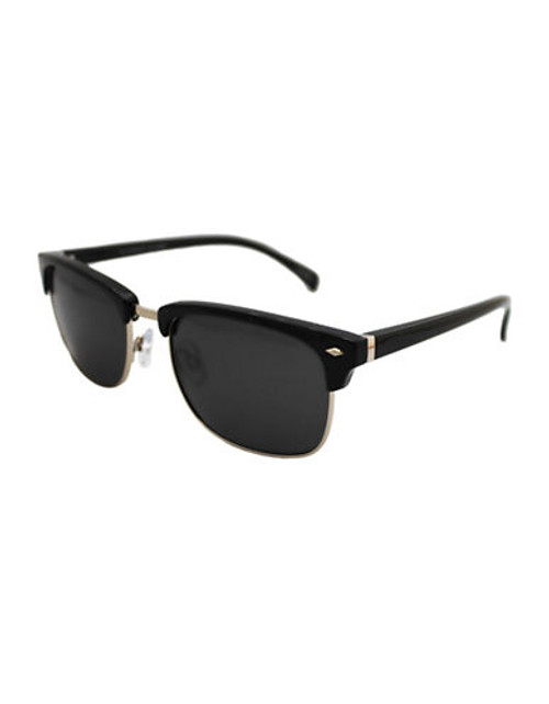 Alfred Sung Polarized Clubmaster Sunglasses - Black