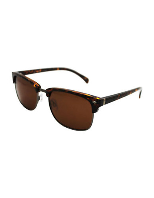 Alfred Sung Polarized Clubmaster Sunglasses - Tortoise
