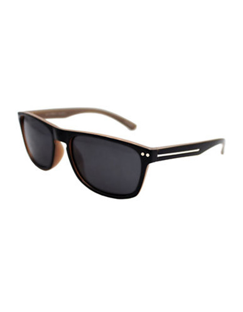 Alfred Sung Black Polarized Plastic Wayfarer - Black