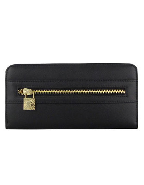Anne Klein Jazzy Geos Small Zip Around Wallet - Black