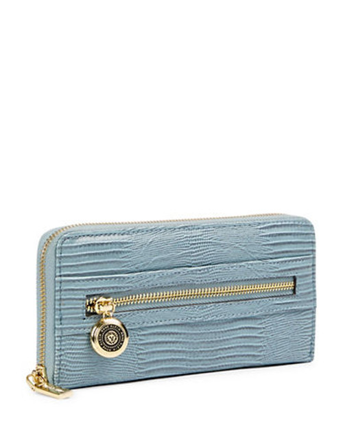 Anne Klein Leo Lizard II Zip Around Wallet - Blue Belle