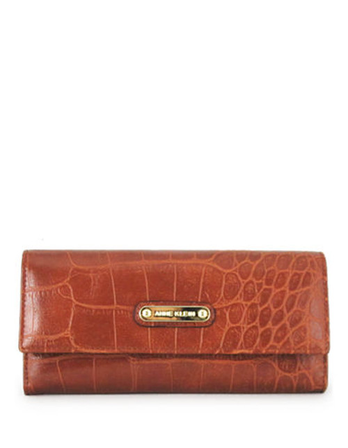 Anne Klein Alligator Alley Continental Wallet - Saddle