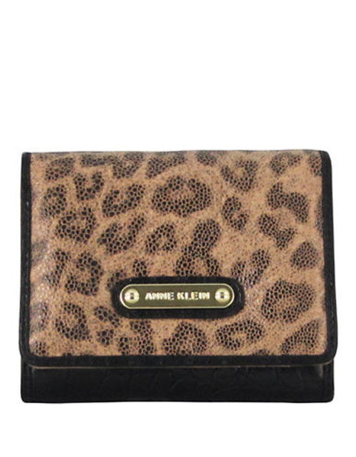 Anne Klein Alligator Alley Indexer Small Wallet - Camel/Black