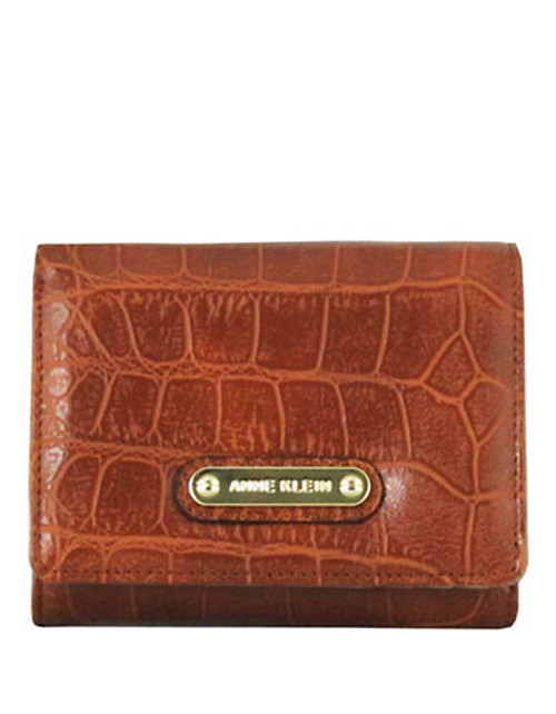 Anne Klein Alligator Alley Indexer Small Wallet - Saddle