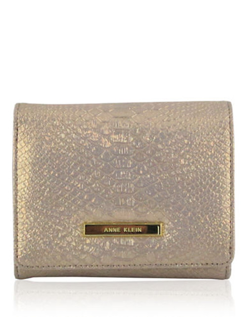Anne Klein Pretty in Pink  small Tri fold Wallet - Gold