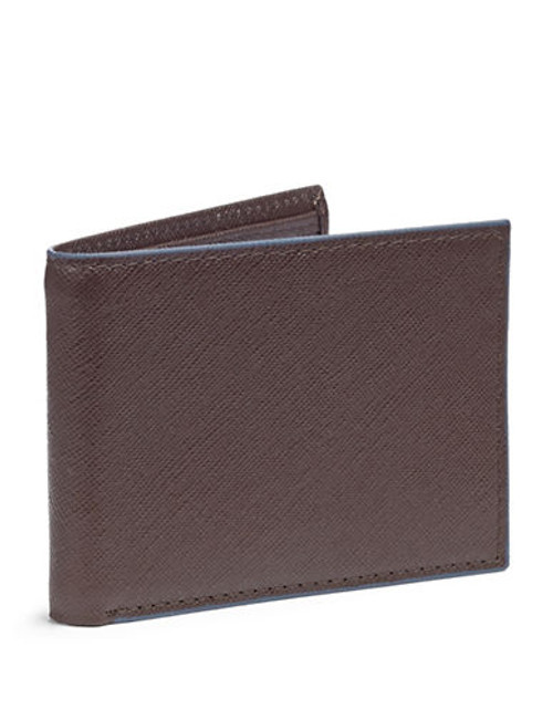 Black Brown 1826 Leather Contrast Trim Passcase - Brown