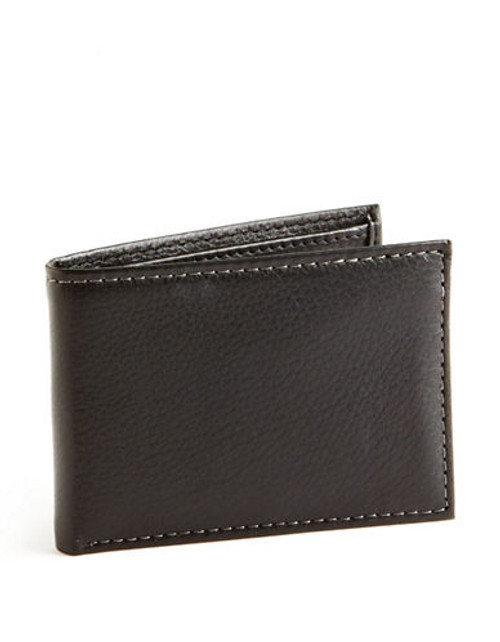 Black Brown 1826 Slim Passcase Wallet - Black
