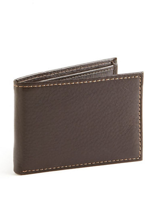 Black Brown 1826 Slim Passcase Wallet - Brown