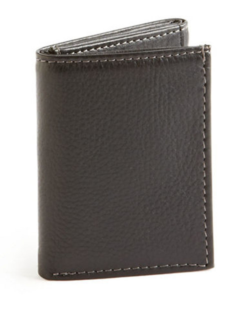 Black Brown 1826 Slim Trifold Wallet - Black