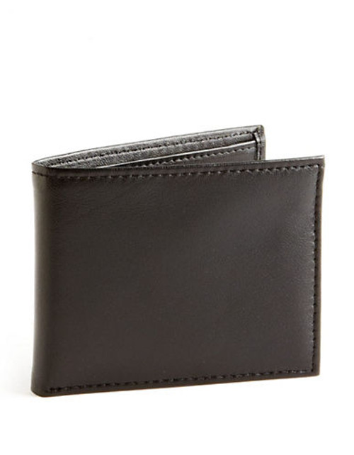 Black Brown 1826 Passcase Wallet - Black