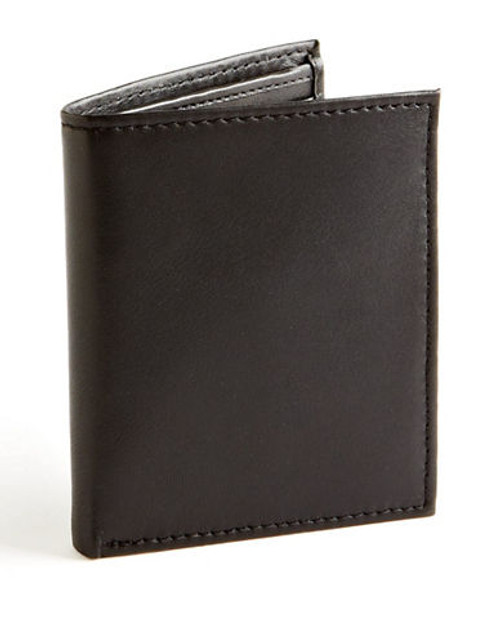 Black Brown 1826 Multi Card Holder Wallet - Black
