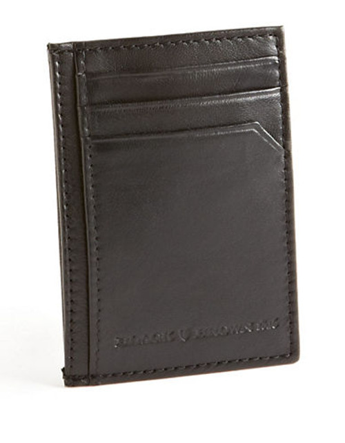 Black Brown 1826 Card Case and Clip Wallet - Black