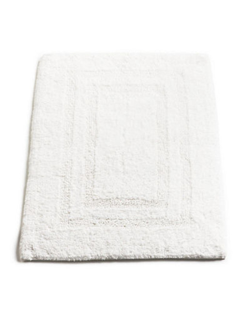 """Hotel Collection Reversible Bathmat 18""""x25"""" - White"""