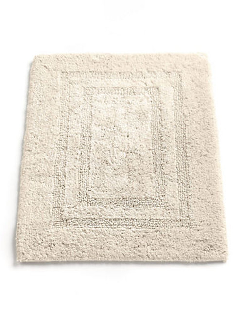 """Hotel Collection Reversible Bathmat 18""""x25"""" - Ivory - Small"""