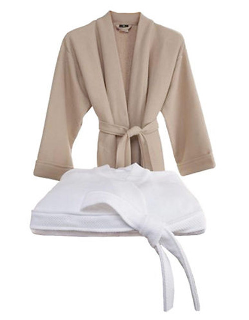 Hotel Collection Pique Bath Robe - White