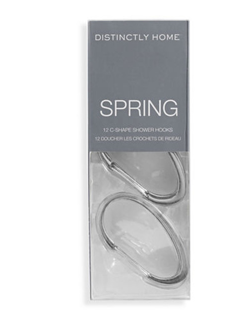Distinctly Home Spring C Shape Shower Hooks - Silver
