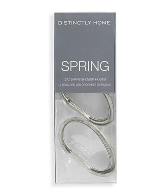 Distinctly Home Spring C Shape Shower Hooks - Grey