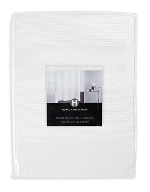 Hotel Collection Woven Pleat Shower Curtain - White