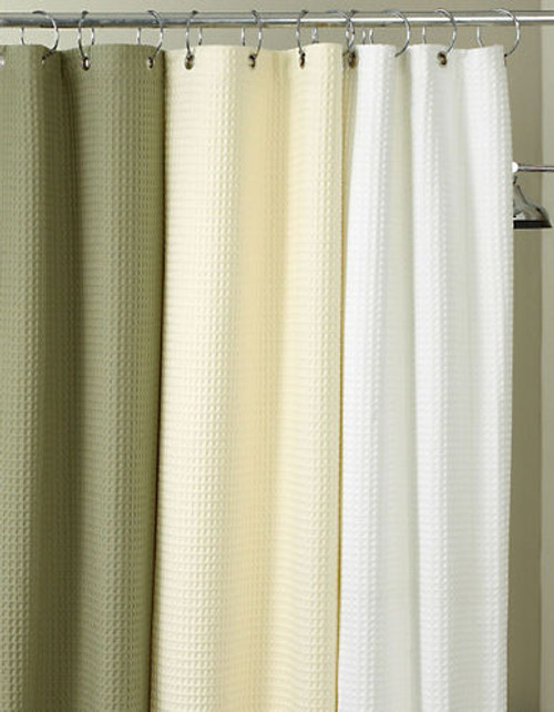 Hotel Collection Waffle Shower Curtain - White
