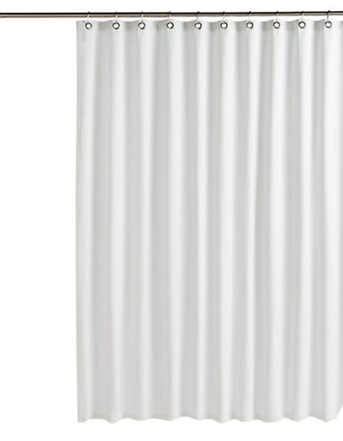 Glucksteinhome Hampton Matelasse Shower Curtain - White