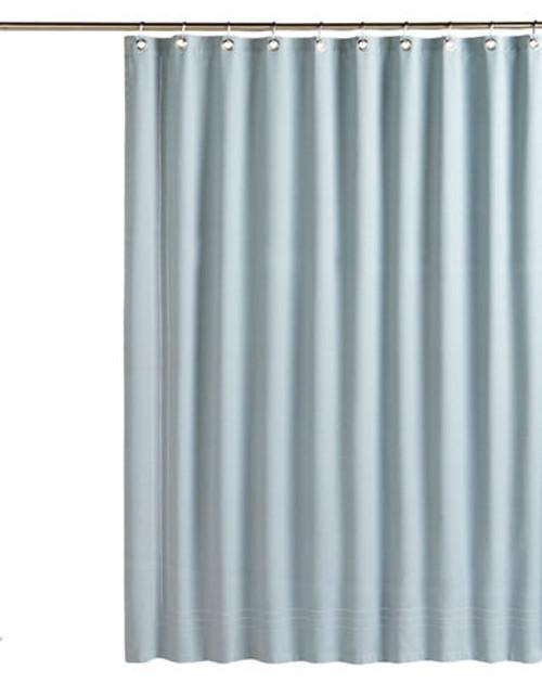 Glucksteinhome Hemstitch Shower Curtain - Blue