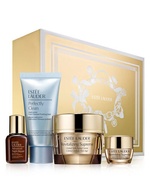 Estee Lauder Global Anti Aging Essentials with full size Revitalizing Supreme - Brown