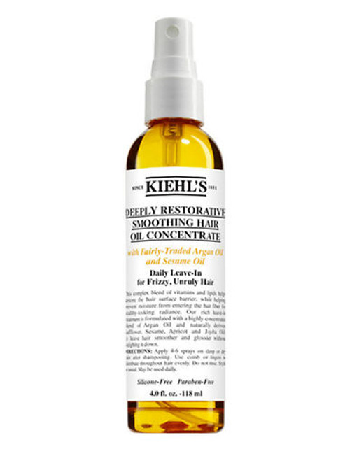 Kiehl'S Since 1851 Deeply Restorative Smoothing Hair Oil Concentrate - No Colour - 118 ml